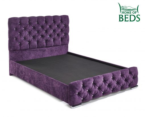 Home Of Beds Parisian Single Fabric Bed Frame Base System