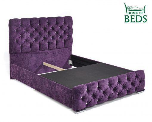 Home Of Beds Parisian Single Fabric Bed Frame Base