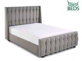Venice Chrome Fabric Single Fabric Bed Frame Side