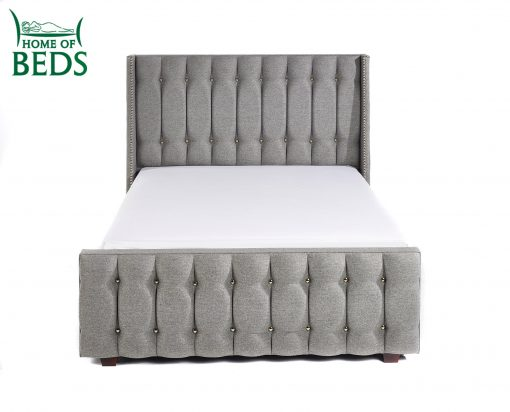 Home Of Beds Venice Chrome Fabric Kingsize Fabric Bed Frame 8