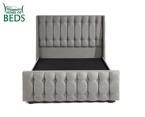 Home Of Beds Venice Chrome Fabric Kingsize Fabric Bed Frame 6