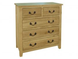 Orlando 5 Drawer Solid Oak Chest