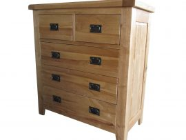 Barcelona 5 Drawer Solid Oak Chest