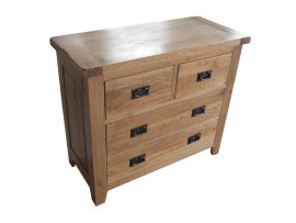 Barcelona 2+2 Drawer Solid Oak Chest