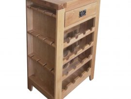 Barcelona Solid Oak Wine Cabinet