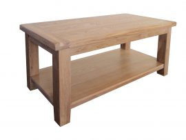 Barcelona Large Solid Oak Coffee Table