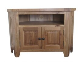 Barcelona Solid Oak Corner TV Unit