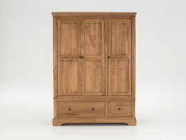 Carmen Solid Oak 3 Door Wardrobe