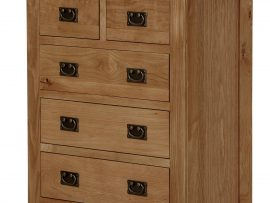 Miami 2 Over 3 Solid Oak Chest