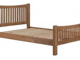 Miami Solid Oak Kingsize Bed Frame