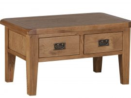 Miami Solid Oak 2 Drawer Coffee Table
