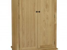 Orlando 2 Door Solid Oak Wardrobe