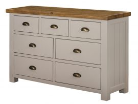Vienna 3 Over 4 White Oak Chest