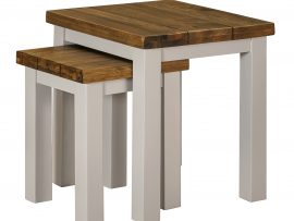 Vienna White Oak Nest Of Tables