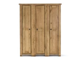 York 3 Door Oak Wardrobe