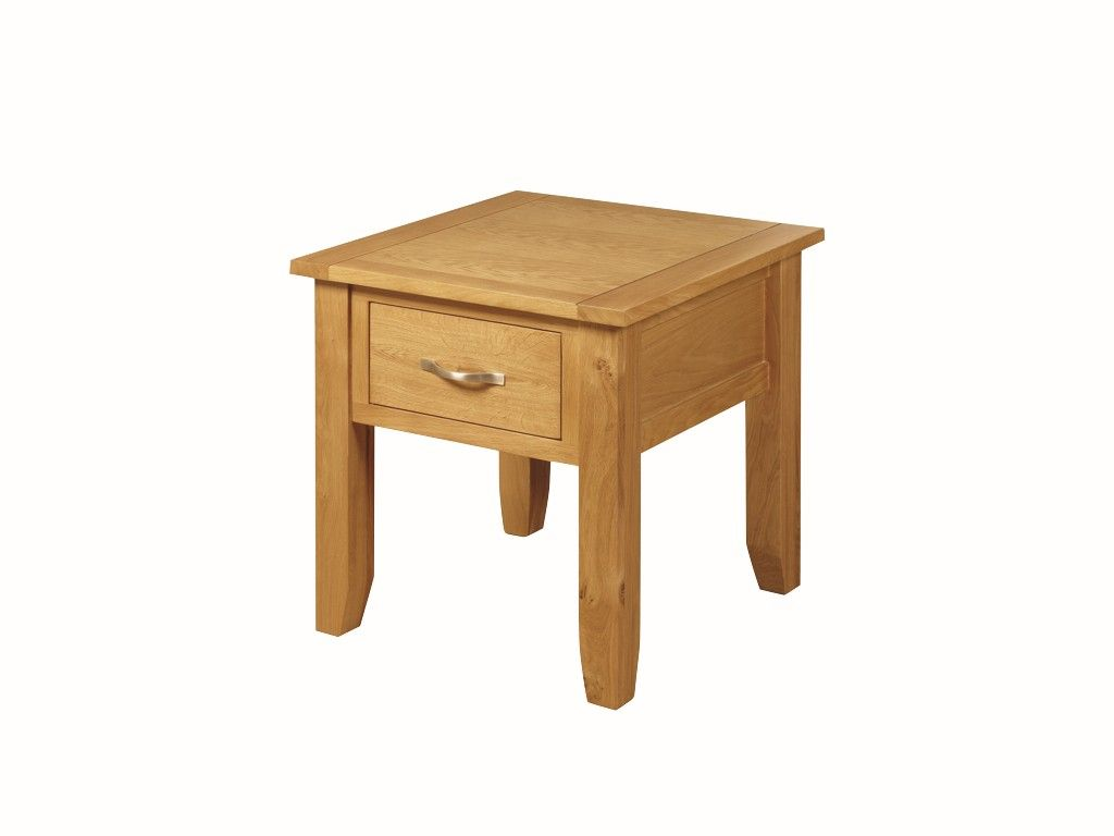 Ellington Solid Oak End Table With Drawer Sweet Dream Makers
