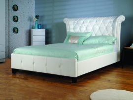 Limelight Epsilon White Leather Bed Frame