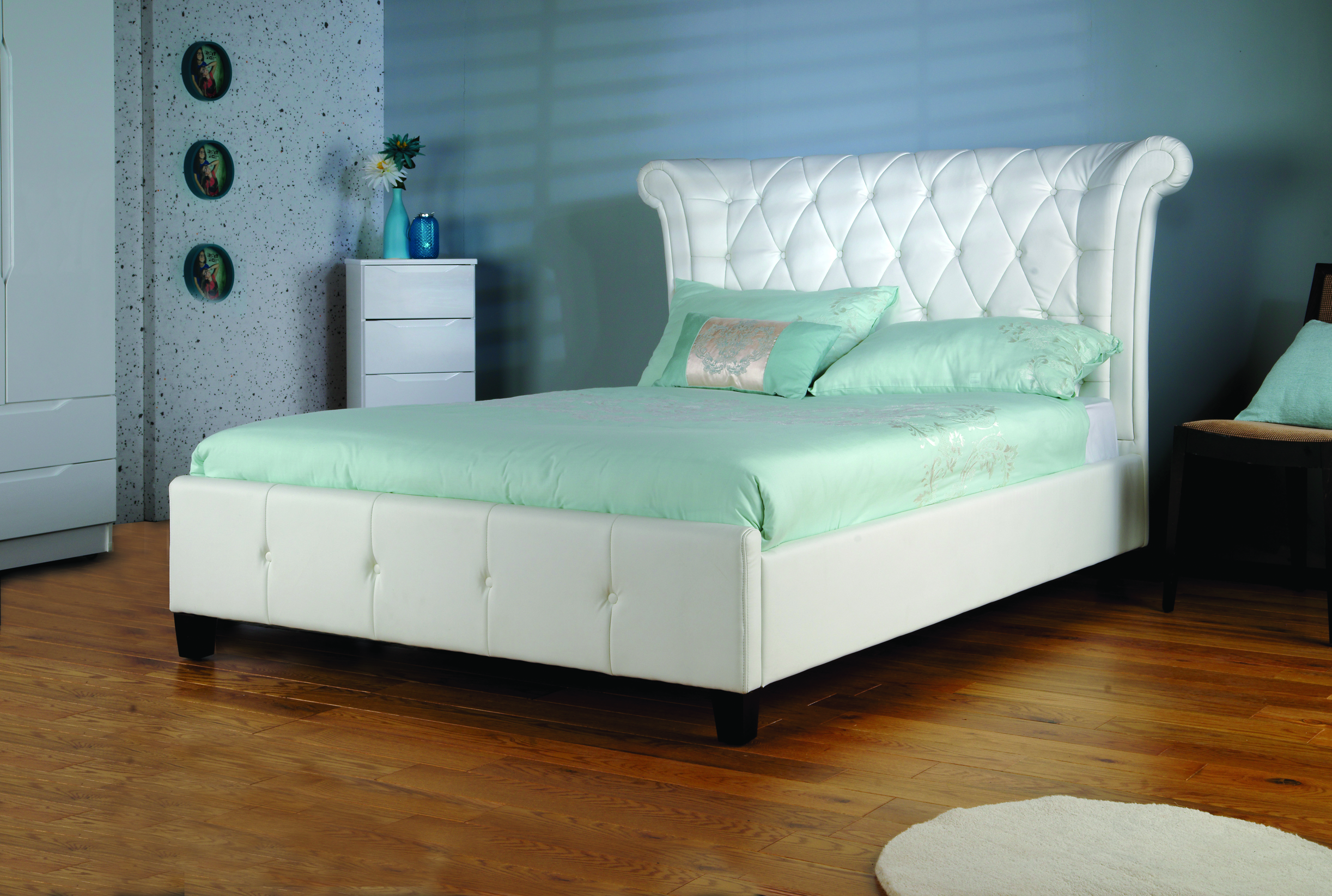 Beds & Mattresses Rapture New Faux Leather Brown 5ft Bed Frame Mattresses Available
