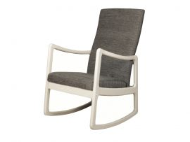 Rossa White Wooden Rocking Chair