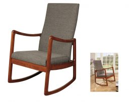 Rossa Cherry Wooden Rocking Chair