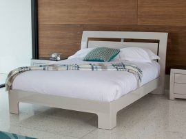 Mirelle Grey High Gloss Bed Frame