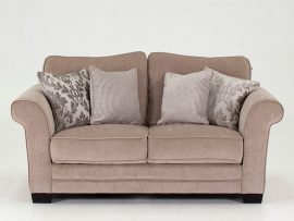 Stafford Taupe 2 Seater Fabric Sofa