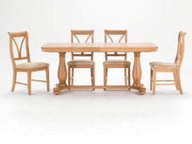 Vida Living Carmen Oak Large Dining Set