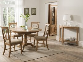 Carmen Round Oak Dining Set