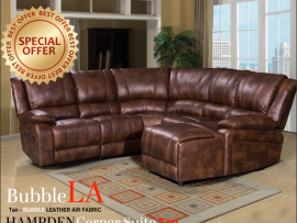 Hampden Tan Recliner Corner Suite