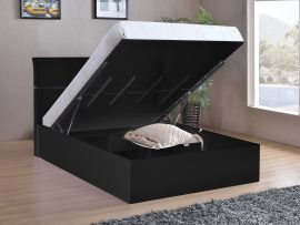 Arden Black High Gloss Ottoman Bed Frame