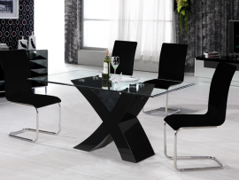 Arizona Black Gloss Dining Set