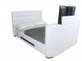 Balmain Faux Leather TV Bed Frame