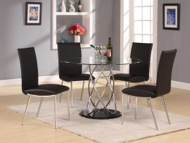 Eclipse Clear 4 Seater Dining Set