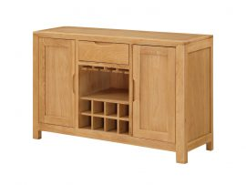Heartwood Large Solid Oak Wine Rack Sideboard