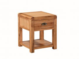 Oakridge Solid Oak 1 Drawer End Table