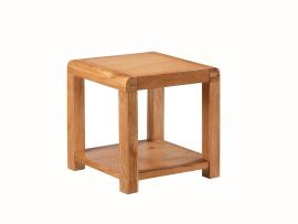 Oakridge Solid Oak End Table With Shelf