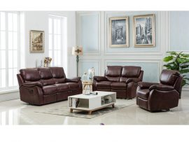 Swindon Burgundy 3 Seater Recliner