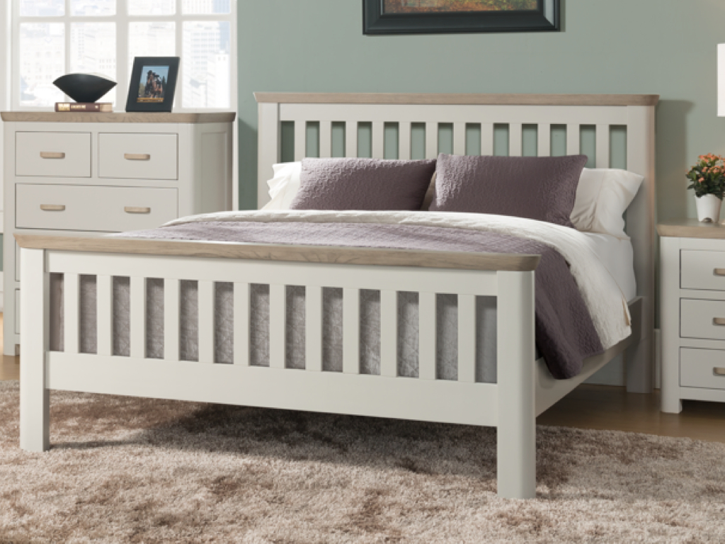 Annaghmore Treviso Painted Oak Single Bed Frame | Sweet Dream Makers