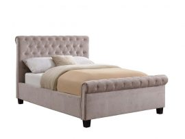 Flair Furnishings Lola Mink Fabric Double Bed Frame