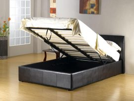 Fusion Pu Leather Small Double Ottoman Bed Frame Open
