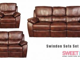Swindon Tan Leather Recliner Sofa Set