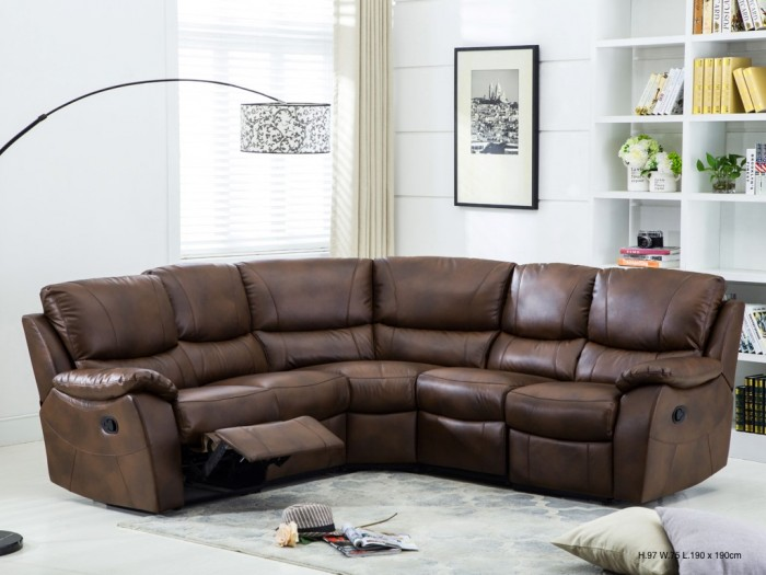 Annaghmore Swindon Leather Recliner Corner Suite | Sweet Dream Makers