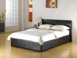 Fusion Pu Leather Double Ottoman Bed Frame