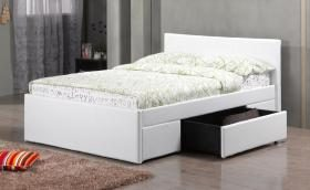 Fusion Pu Leather Double 2 Drawer Bed Frame
