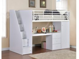 Dakota White High Sleeper Bed Frame