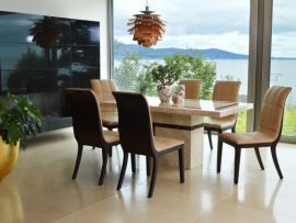 Filippo Cream Marble 1600 Dining Set