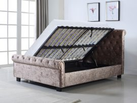 Whitford Mink Double Fabric Ottoman Bed Frame