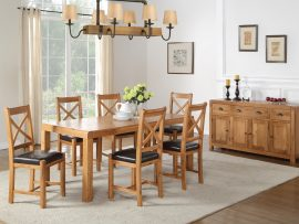 Oakridge Oak 4ft Extension Dining Set