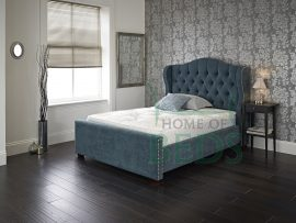Amazon Small Double Teal Fabric Bed Frame