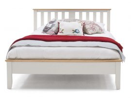 Vida Living Chambery Solid Oak Grey Double Bed Frame